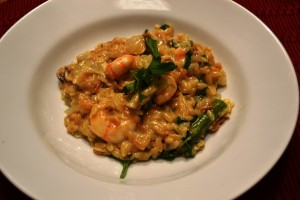 Making the Switch – Roasted Shrimp Risotto