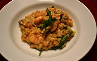 Roasted shrimp risotto-1