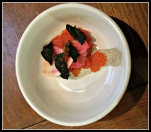 Cold smoked salmon with roe -2